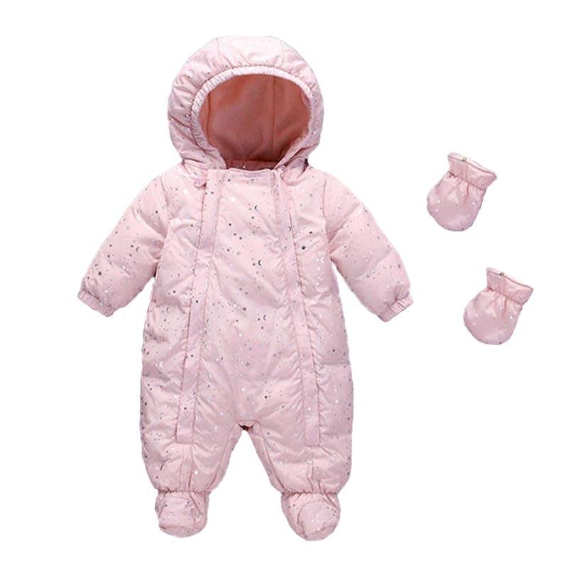 Infant Romper Children Winter Thicken Warm Climbing Clothes Duck Down Jumpsuit Newborn Baby Girls Boys Rompers Toddler Snowsuit