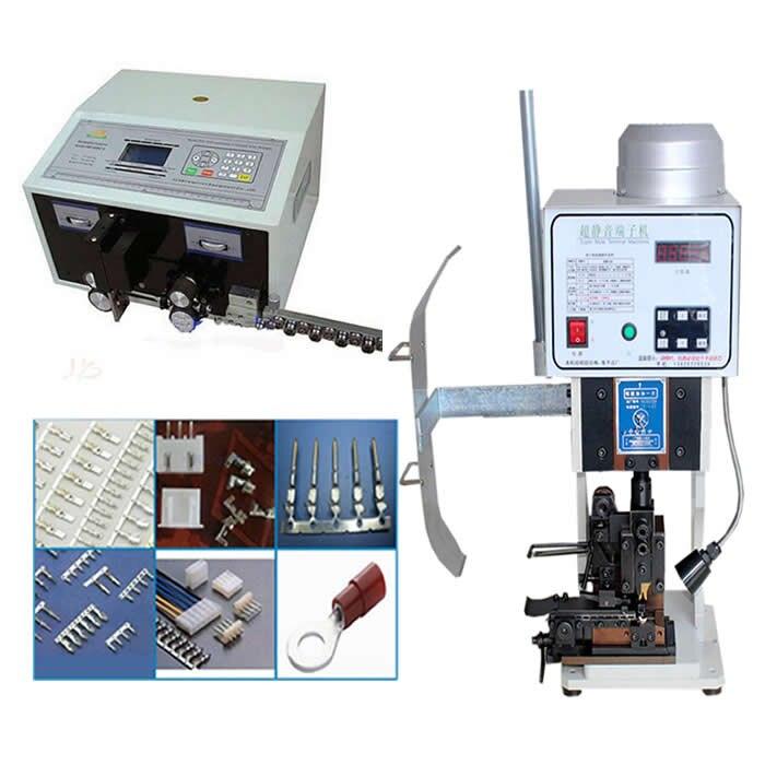 Automático que prensa terminal de la máquina LY 1,5 T con molde horizontal + SWT508C alambre la máquina de desmontaje del corte