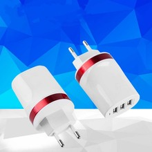 New Charger Adapter EU  PLUG Desktop Charger Mobile Phone Travel Charger For Smartphone for iPhone Samsung Tablet red cager b030 15000mah smart mobile power charger w card reader function for pokemon game iphone ipad samsung smartphone tablet