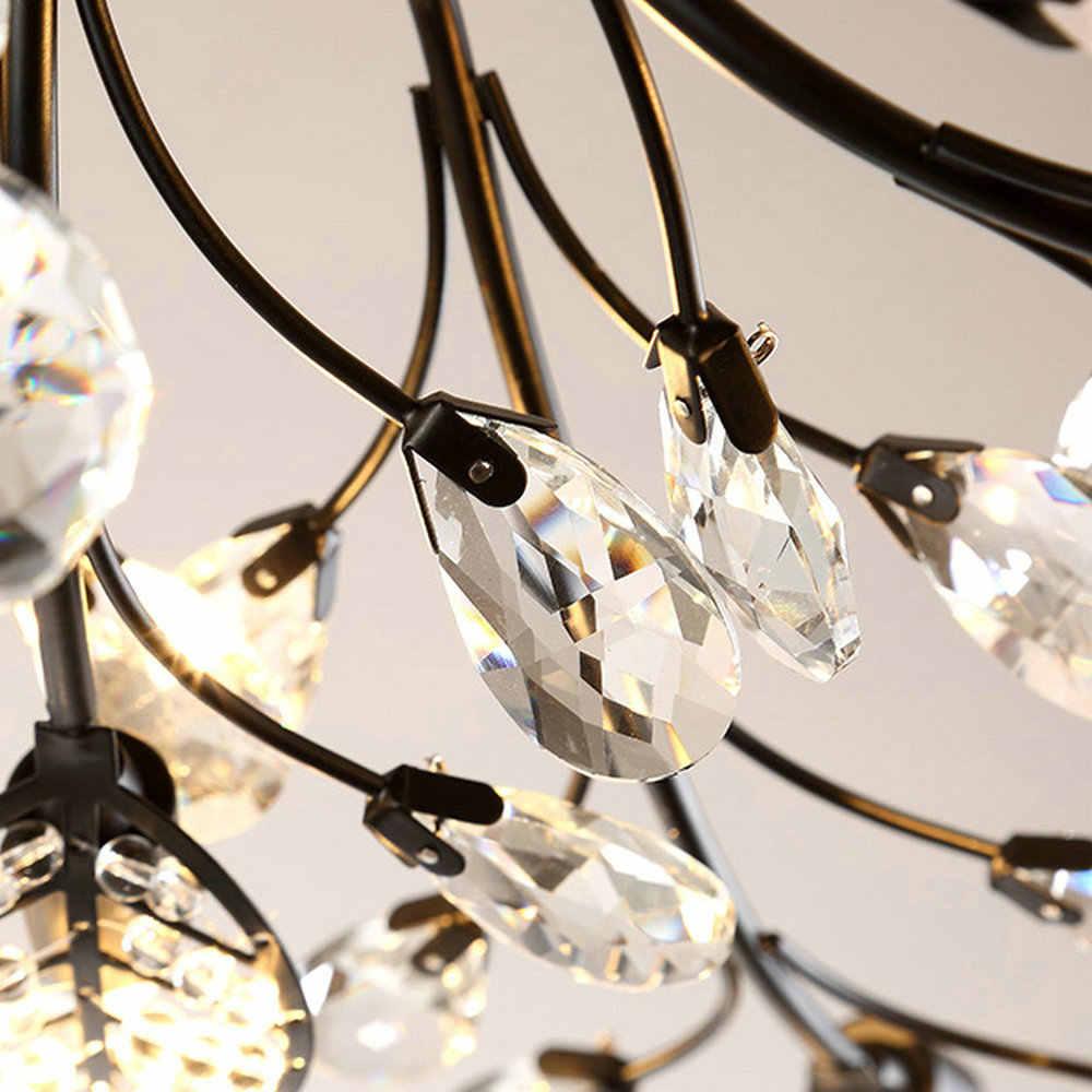Современный светодиодный потолочный светильник K9 с заподлицо для дома, золотой и черный цвета, люстра для гостиной, спальни, кухни