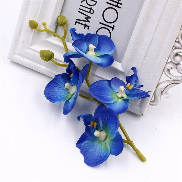 10lot = (40 flowers head) fashion orchid artificial flower DIY ...