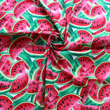 large watermelon pattern material digital printing kids cotton fabric