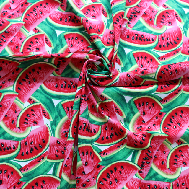 Large Watermelon Pattern Material Digital Printing Kids Cotton ...