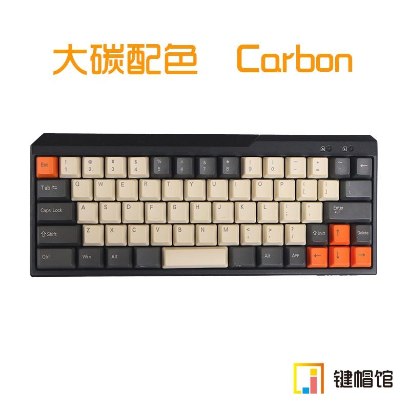 все цены на Retro mechanical keys for mechanical keyboard filco minila air Carbon PBT white side print keycap cherry mx OEM онлайн