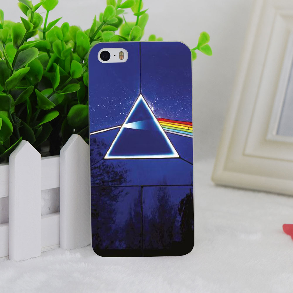 A1765 Colorful Mirror Pink Floyd Transparent Hard Thin Case Cover For Apple iPhone 4 4S 5 5S SE 5C 6 6S 6Plus 6s Plus