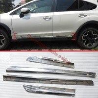 스바루 XV 2011-2015 용 ABS 크롬 사이드 도어 바디 몰딩 몰딩 트림
