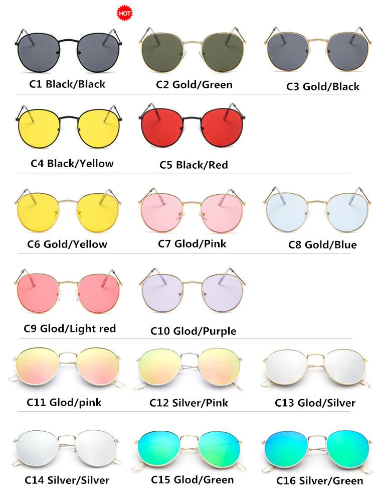 DJXFZLO Retro gafas de sol ovaladas vintage 2