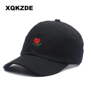 XQKZDE 2018 Cotton Embroidery Caps Black Snapback Dad Hats 22f3958a5a19