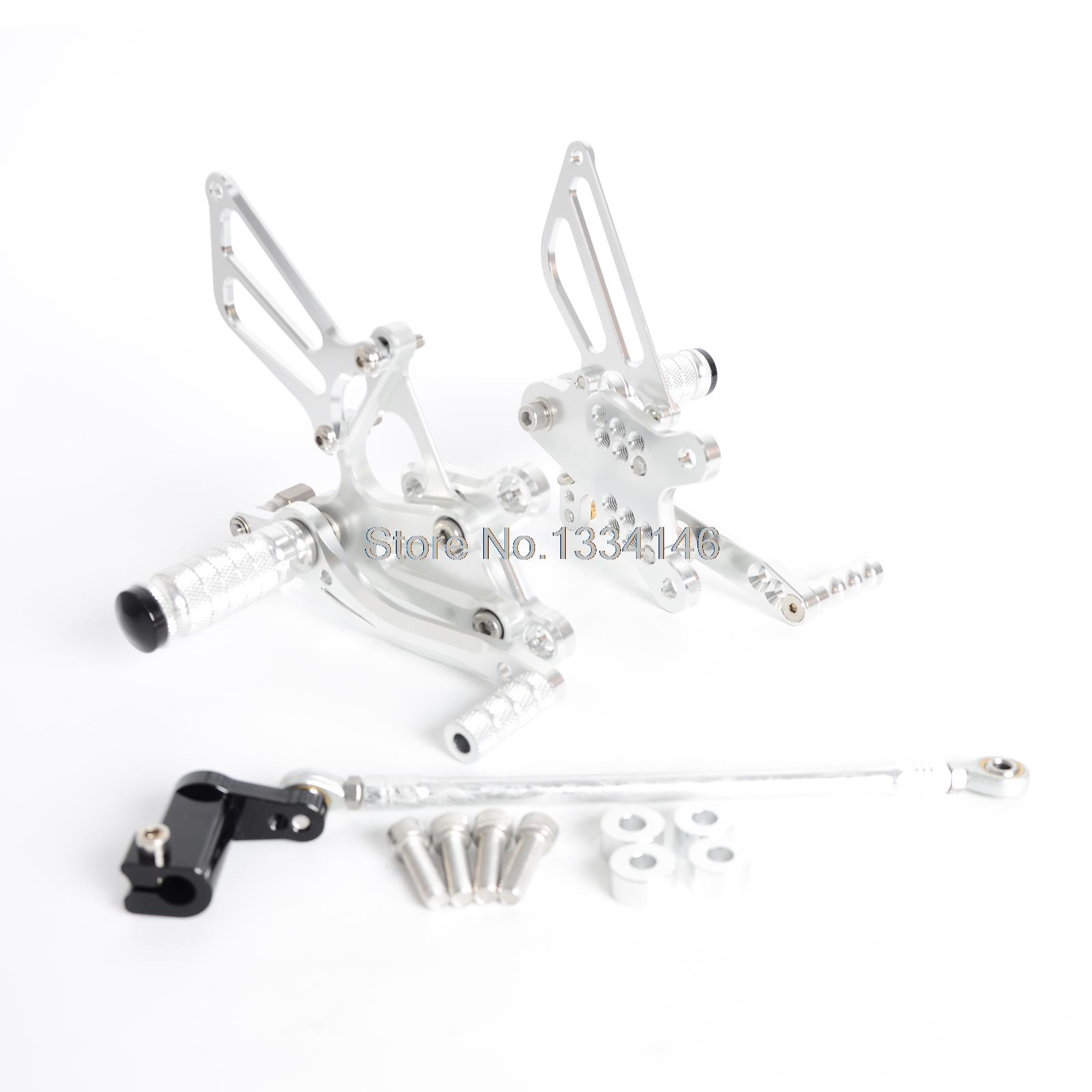 CNC Silver Adjustable Rearset Foot Peg Rear Sets For Honda CBR929 CBR929RR 2001 2002 l r pillion foot peg for honda c70 ct90 cb125 cb200 cg110 cg125 jx110 jx125 xl250 xl350