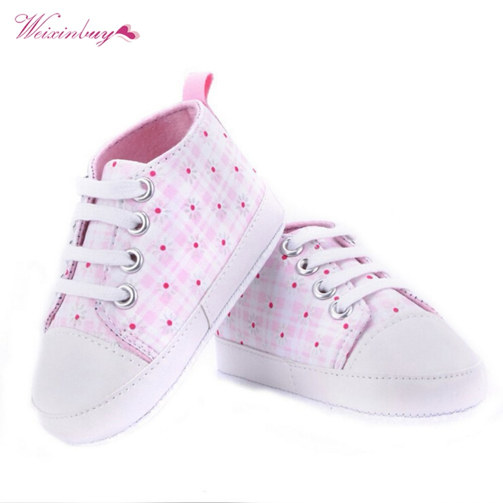 WEIXINBUY 2018 Infant First Walker Toddler Newborn Baby Boys Girls Soft Sole Crib Casual Shoes Sneaker 0-18M