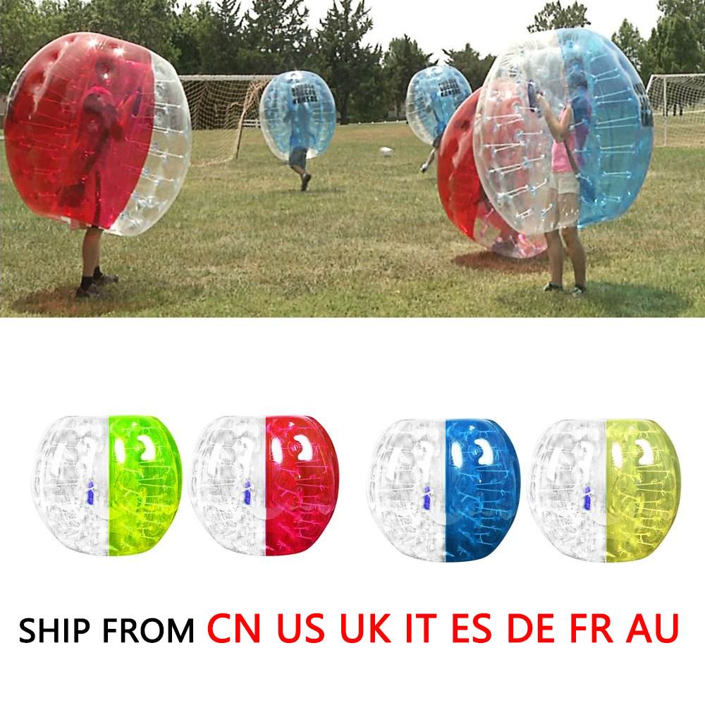 0.8m Outdoor Activity PVC Inflatable Bumper Bubble Soccer Zorb Ball For Adult Buffer Ball Running Family Game Drop Shipping outdoor activity pvc inflatable bumper bubble soccer zorb ball for adult buffer ball running family game body suit loopy ball