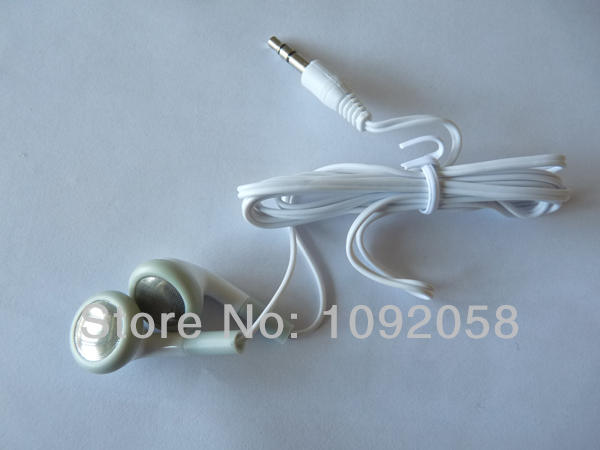 wholesale 100pcs/lot 3.5mm in ear Earphone for MP3 MP4 moblie NANO TOUCH head phone Free Shipping