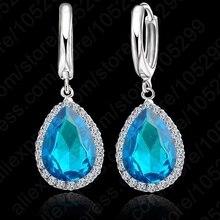 JEXXI 2016 Earings Fashion Jewelry Famous Brand Austrian Crystal Earring 925 Sterling Silver Earrings For Women Free Shipping