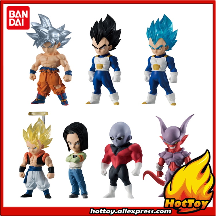 100% Original BANDAI ADVERGE 06 Toy Figure - Full Set of 7 Pcs Goku Jiren Vegeta Android 17 Gogeta Janenba