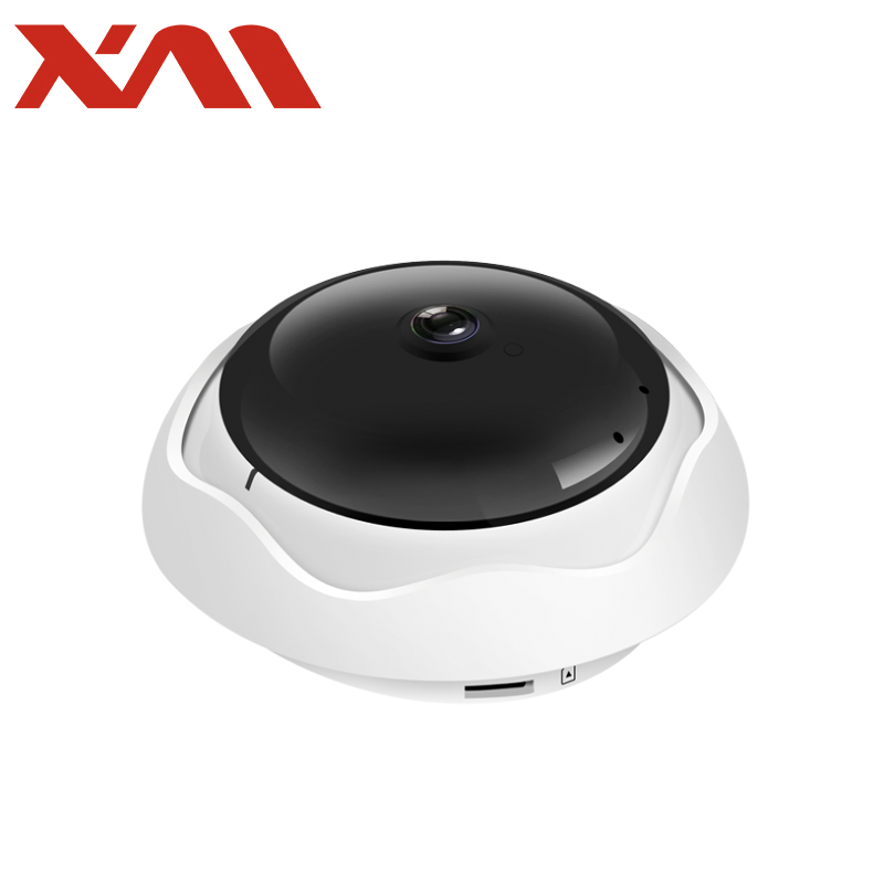 5MP 360VR Panoramic Wifi IP Camera Wireless Smart IR-CUT P2P Network Home Security Camera Mobile Remote Control CCTV Monitor