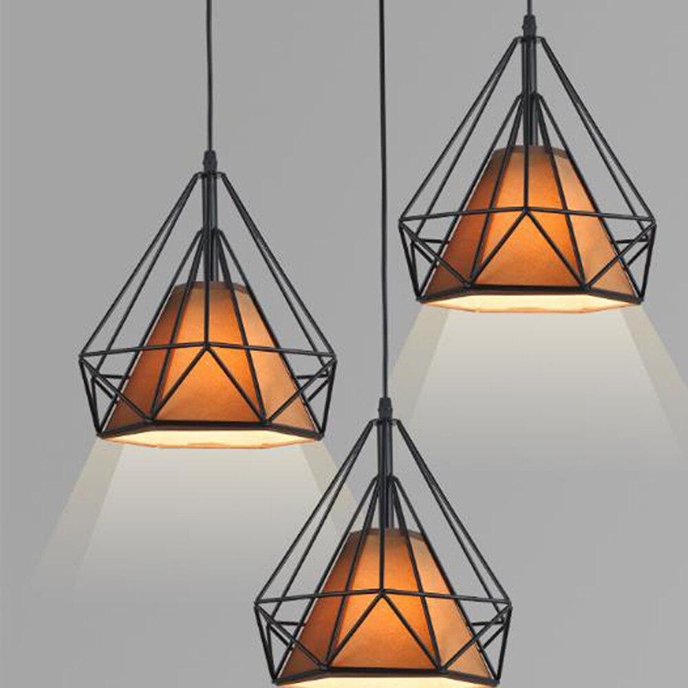 где купить LED pendant light Nordic Europe retro style dinning living room clothing shop bar counter 1Head 20CM(only stock without Fabric) по лучшей цене