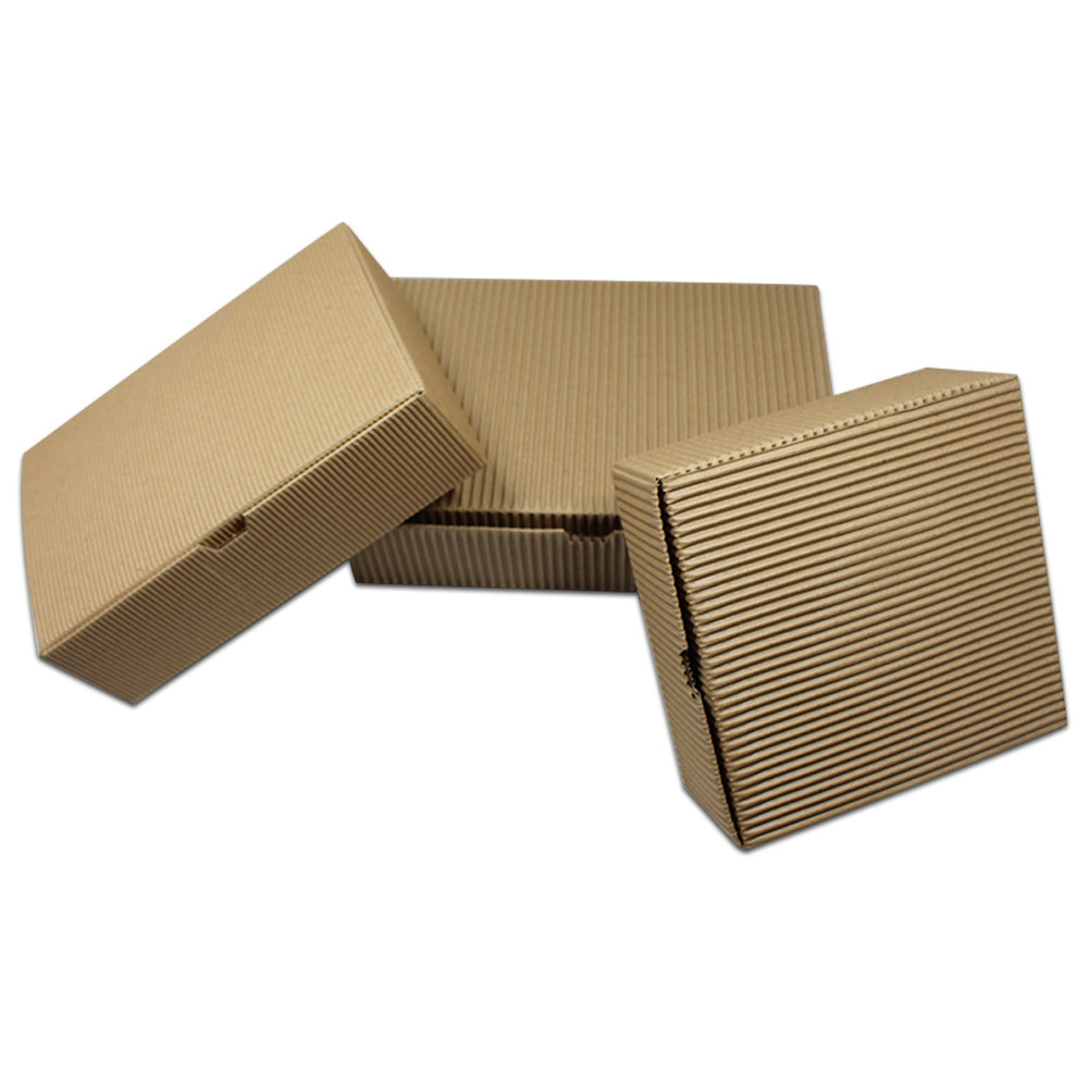 30pcs Brown Kraft Paper Corrugated Box Paperboard Carton Boxes Gift Candy Chocolate Cookies Packaging Wedding Party 3 Size