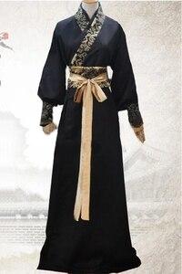 Image 1 - Танцевальный Костюм Рыцаря для взрослых, одежда китайской династии Тан, мужской костюм ханьфу, традиционный китайский костюм, костюм меча 89