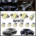 10PCS Set White LED Lights Interior Package Kit For Acura TSX 2009-2013
