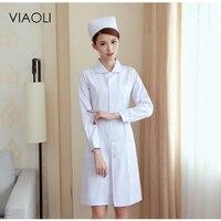 Ladys White Short Sleeve Lab Coat Doctors Surgeon Scientist Outfit Fancy Dress Costume Warehouse Long Jacket