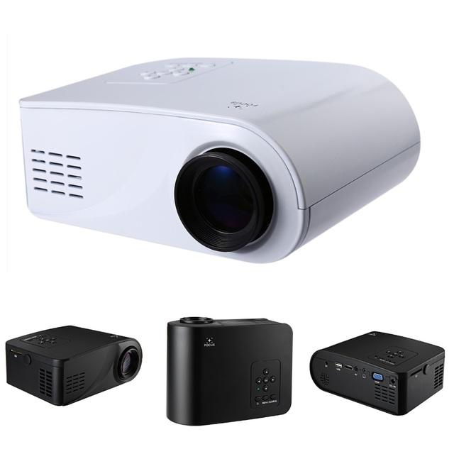 Excelvan x6 mini portable multimedia proyector lcd full hd 1080 p 480x320 de Vídeo de Cine En Casa Proyector de 360 Grados Flip Beamer