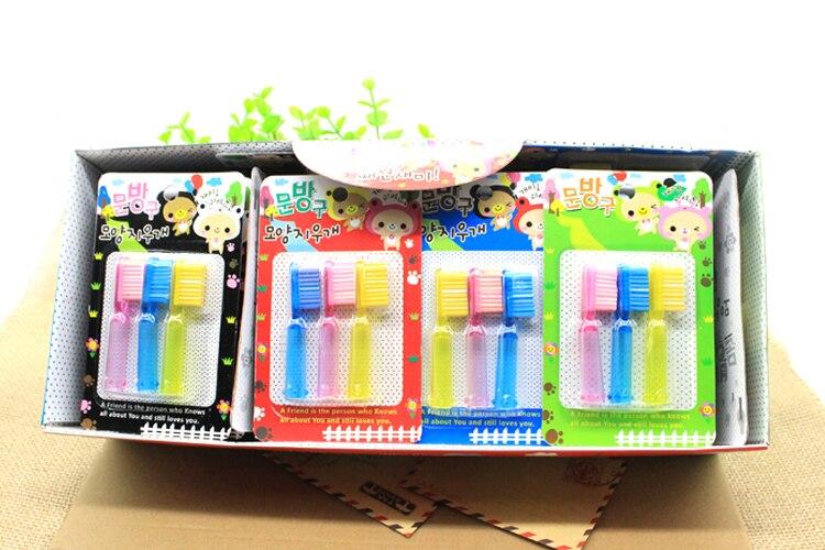 3pcs/set Cartoon Rubber Stationery Creative Toothbrush Rubber Eraser For Kids Pen Eraser Student Stationery Supplies Promotion