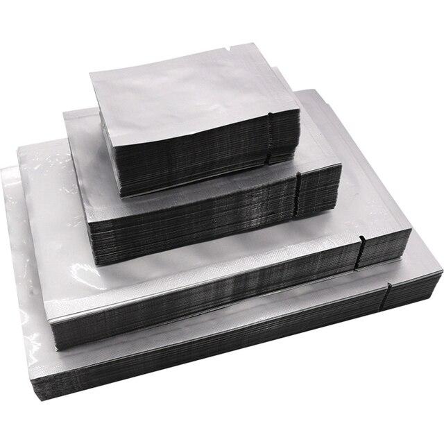 100 Pcs Aluminum Foil Mylar Bag Food Delicatessen Storage Holder Container Sealer Package Bag Kitchen Storage & Organization