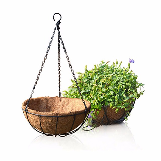 8 Inch 10 Clic Hanging Basket With Coco Liner And Chain