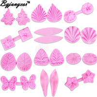 Byjunyeor C267 Leaf Lily Flower Rose Petal Silicone Cake Mold Cake Decorating Tools Fondant Folder Gumpaste Chocolate Moulds