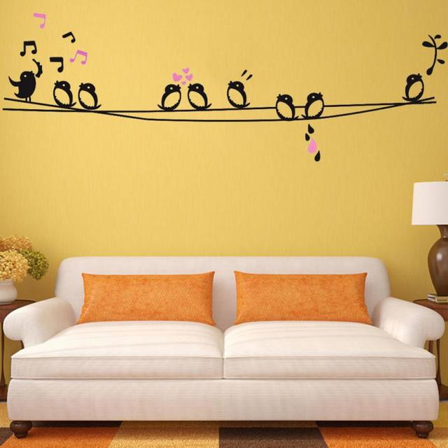 New Birds and Branches Art Wall Sticker Decal Music Note Bedroom ...