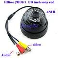 """Câmera de CCTV 48 IR Effio-e700tvl 1/3 """"sony ccd Dia/Noite câmera de Vídeo com Áudio"""