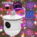 E27 мини Bluetooth RGB сценический светильник Звук Активированный автоматический вращающийся магический диско-шар DJ светильник светодиодный сцен...