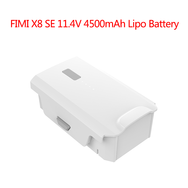 Fimi X8 Se Rc Quadcopter Spare Parts 11.4v 4500mah Lipo Battery Flight Time 33mi 4k Intelligent Battery For Rc Drone Accessories Delicacies Loved By All