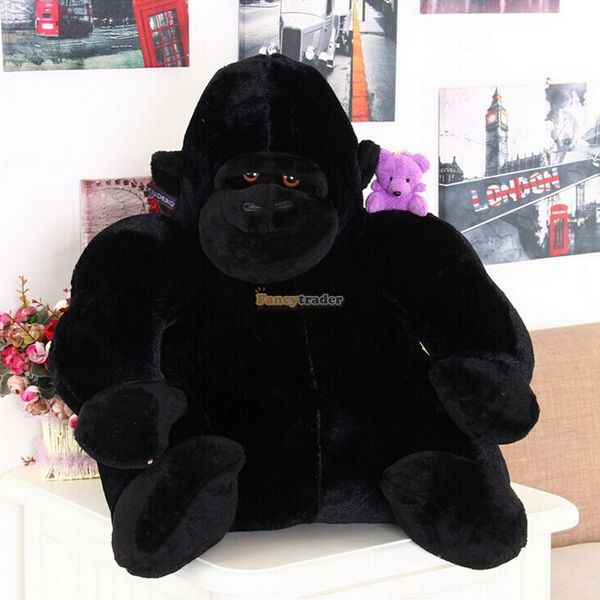 Fancytrader Cute High Quality Monkey Toy 33'' 85cm Giant Plush Stuffed Ape Chimpanzee Monkey, Great Gift, Free Shipping FT90338 fancytrader real pictures 39 100cm giant stuffed cute soft plush monkey nice baby gift free shipping ft50572