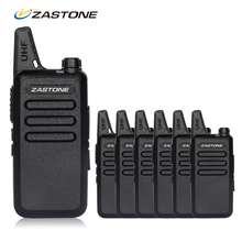 6pcs Cheap Walkie Talkie For Sale Zastone ZT-X6 UHF 400-470mhz Frequency Mini Handheld Radio Transceiver Comunicador
