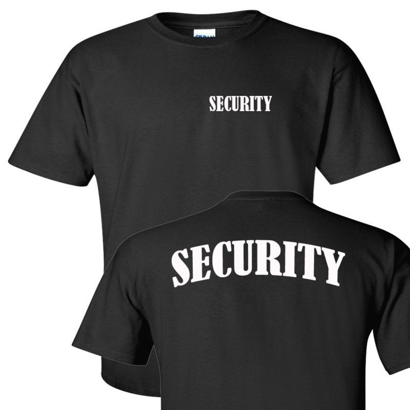2018 Tees Summer Style T-Shirt Funny Safety Bodyguard Security Black Cotton Pre Shrunk Tee Shirt
