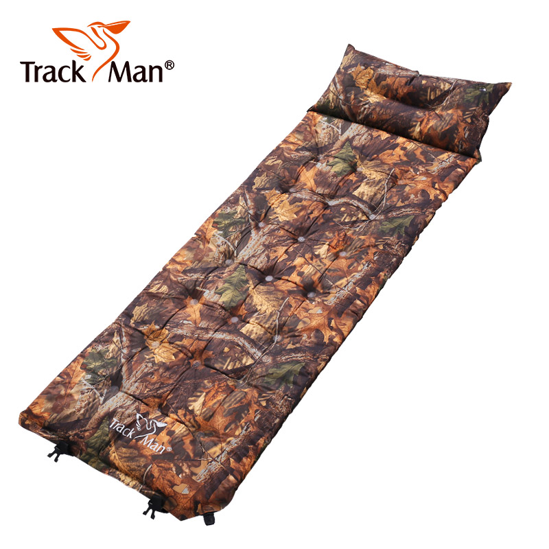 Outdoor Self Inflatable Sleeping Mat Mattress With Pillow Self Inflating Sleeping Pad Foldable Bed Camping Tents