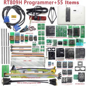 Image 1 - 100% oryginalny RT809H EMMC nand flash programista + 55 przedmioty z BGA48 BGA63 BGA64 BGA169 Adapter RT809H EMMC nand flash TSOP48