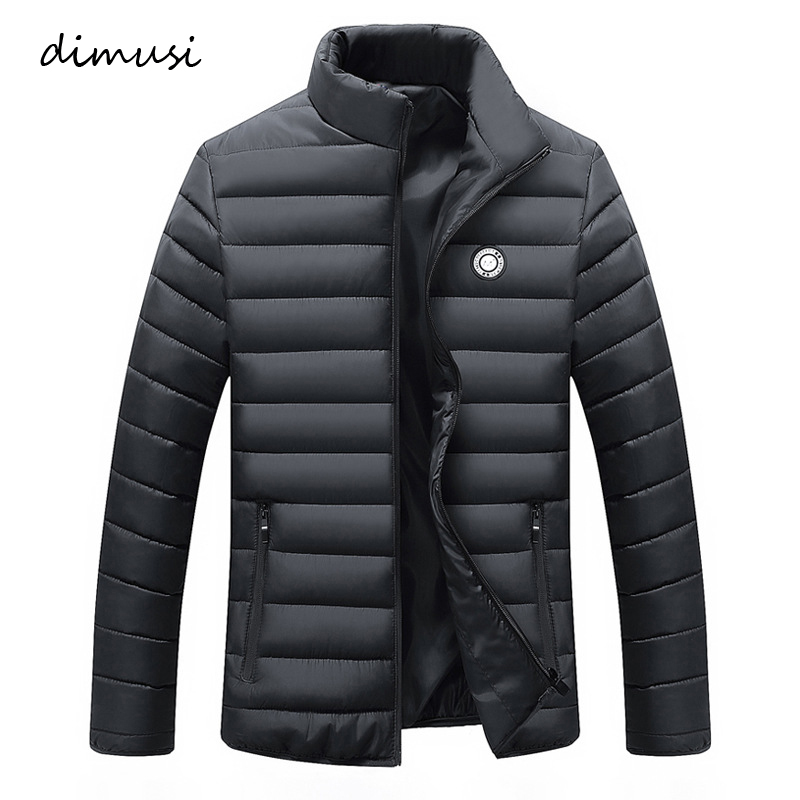 DIMUSI Winter Men's   Parkas   Cotton Thick Warm Padded Male Slim Fit Stand Collar Outwear Windbreaker Jacket and Coats 4XL,TA192