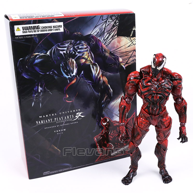 Universe Variant Play Arts Kai Venom Limited Color Ver. PVC Action Figure Collectible Model Toy super street fighter iv akuma gouki white variant play arts kai action figure