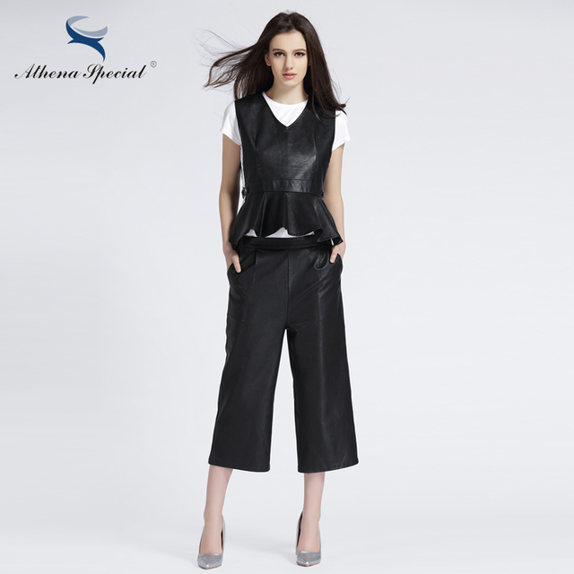 46d2a5c1e US $79.0 |Athena Special New Fashion Designer Women Leather Jacket Suits  Ladies' Elegant Slim Street Type PU Leather Jackets High Quality-in Leather  & ...