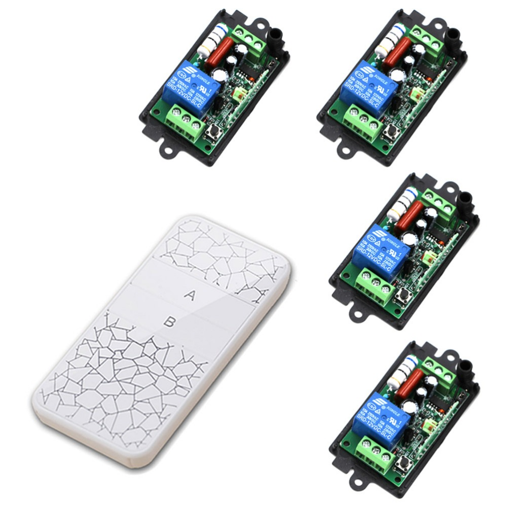 New Product Wireless Remote Control Switch System 10A Relay Receiver AC110V 1CH AC220V RF Remote Control Switch 315Mhz/433Mhz ac 220v 1channel 10a rf wireless remote control switch system 4 receiver