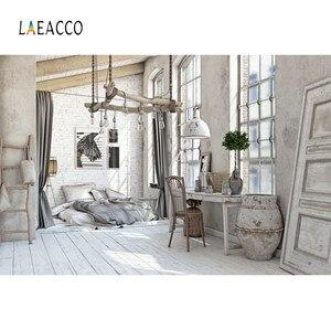 Image 1 - Laeacco cinza velho casa rural móveis decoração de casa do bebê pet retrato interior foto fundos foto pano de fundo para estúdio foto