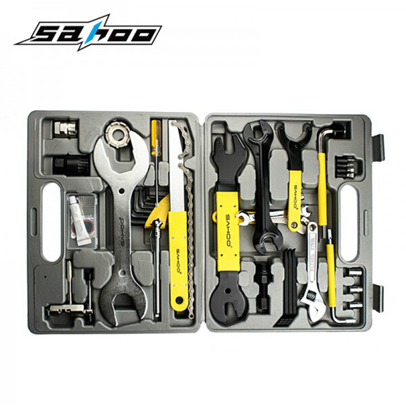 SAHOO 44 in 1MTB Ferramentas Home Convenient Use Bike Repair Tools Mechanic Bicycle Cycling Tool Kit Set Bike Repair Tool SetSAHOO 44 in 1MTB Ferramentas Home Convenient Use Bike Repair Tools Mechanic Bicycle Cycling Tool Kit Set Bike Repair Tool Set