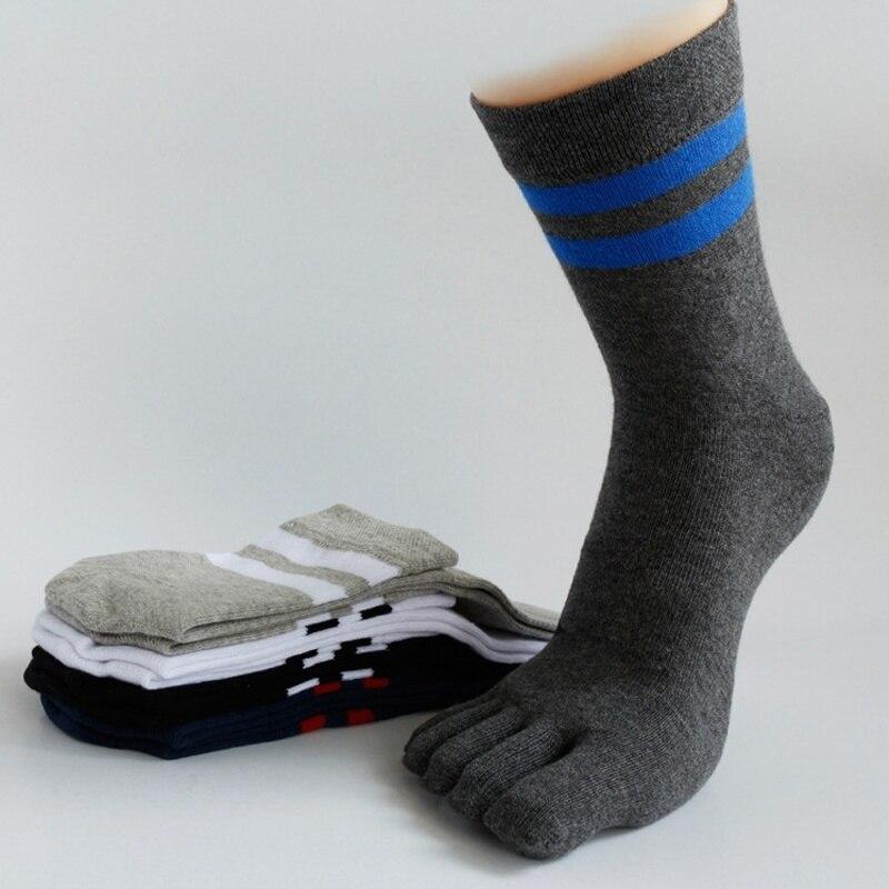 2017 Male 5 Colors  Warm Sock Mens Winter Elastic Finger Toe Long Casual Sock Cotton Socks