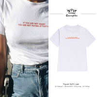 European And American Art Retro Simple Letter Printing Loose Large Size T Shirt Female Bf Wind