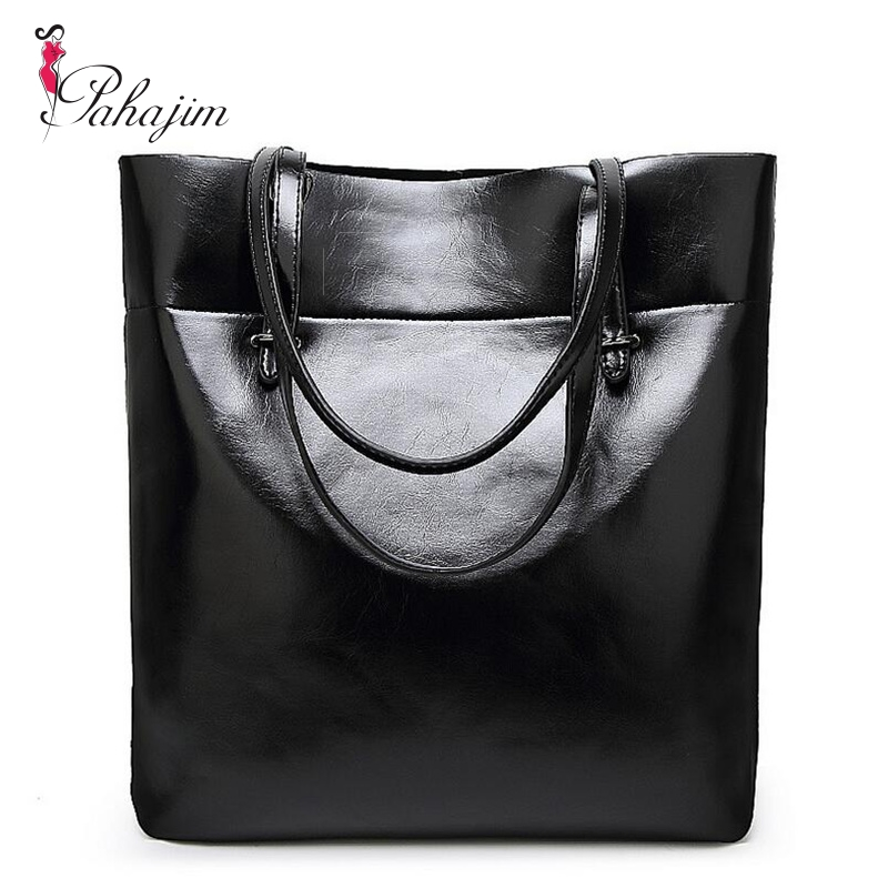 2017 new leather leisure women bag contracted  leather tote bags  woman single handbag
