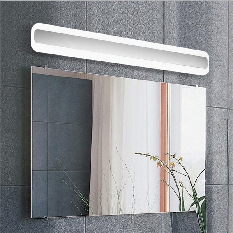 NEW High Quality Modern Waterproof Anti-fog IP55 Acryl Led Wall Lamp for Bathroom Mirror Light 40/50/60/70cm AC 80-265V 1602 modern creative acryl aluminum led mirror lamp for bathroom living room waterproof anti fog 40cm 12w mirror light 2130