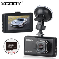 Original XGODY D2 Car DVR Full HD 1080P Car Camera Recorder Black Box 170 Degree Lens