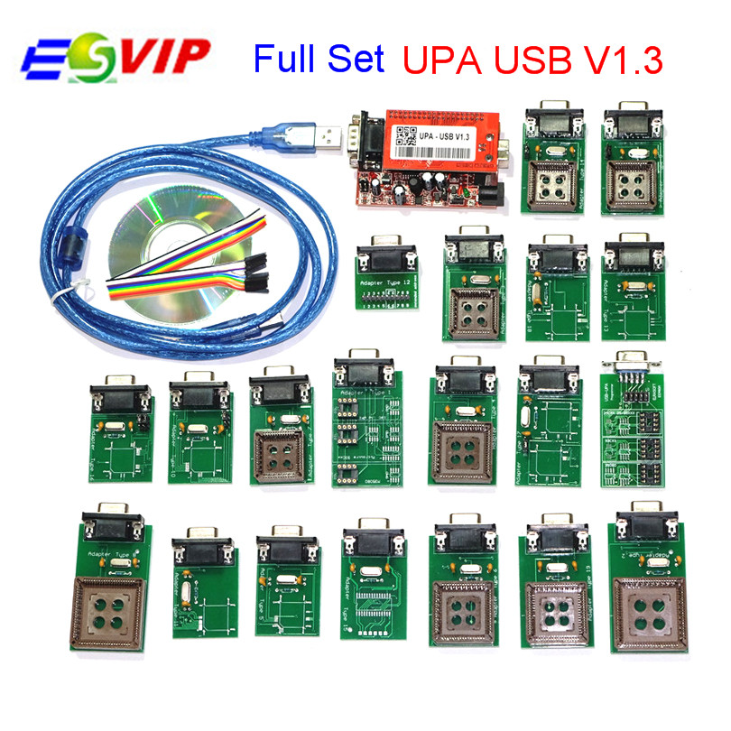 wholesale price UPA USB Programmer UPA USB 1.3 Full Adapters UPA USB V1.3 ECU chip Tuning tool promotion price for new upa usb